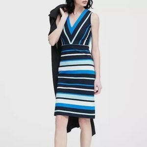 BANANA REPUBLIC striped Ponte dress